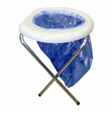 PORTABLE TOILET FOR CAMPING/FISHING FOLDING+ 6 BAGS NEW: Amazon.co ...