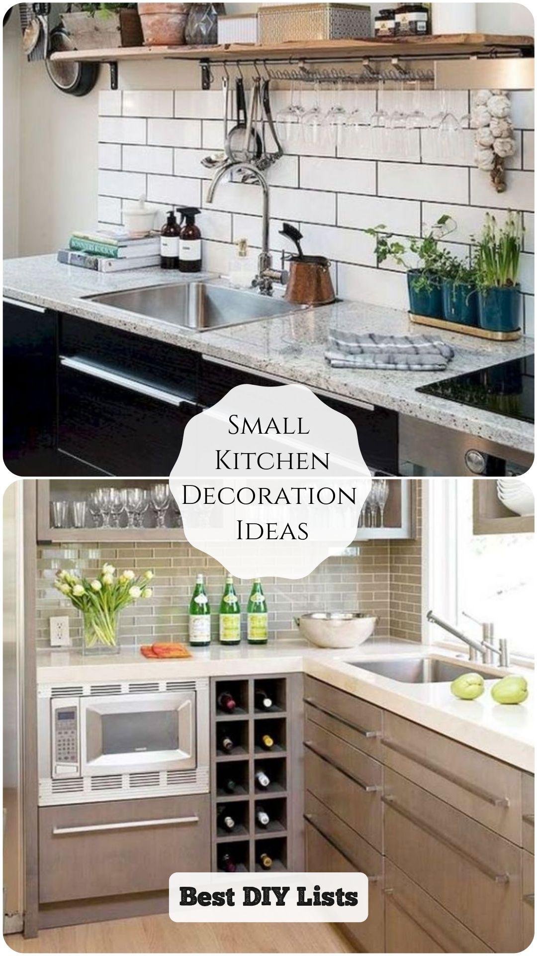 Small Kitchen Decoration Ideas in 9  Small kitchen decor