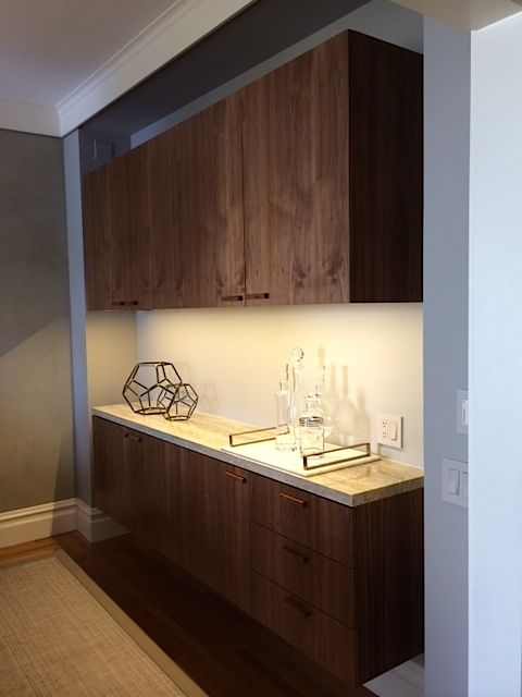 Check Out This Custom Wall Mounted Dining Room Buffet We Designed And Built For A