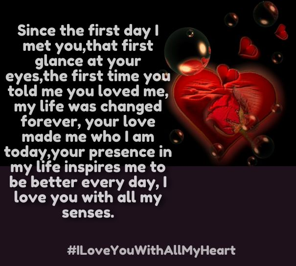 Cute I Love You With All My Heart Quotes For Him
