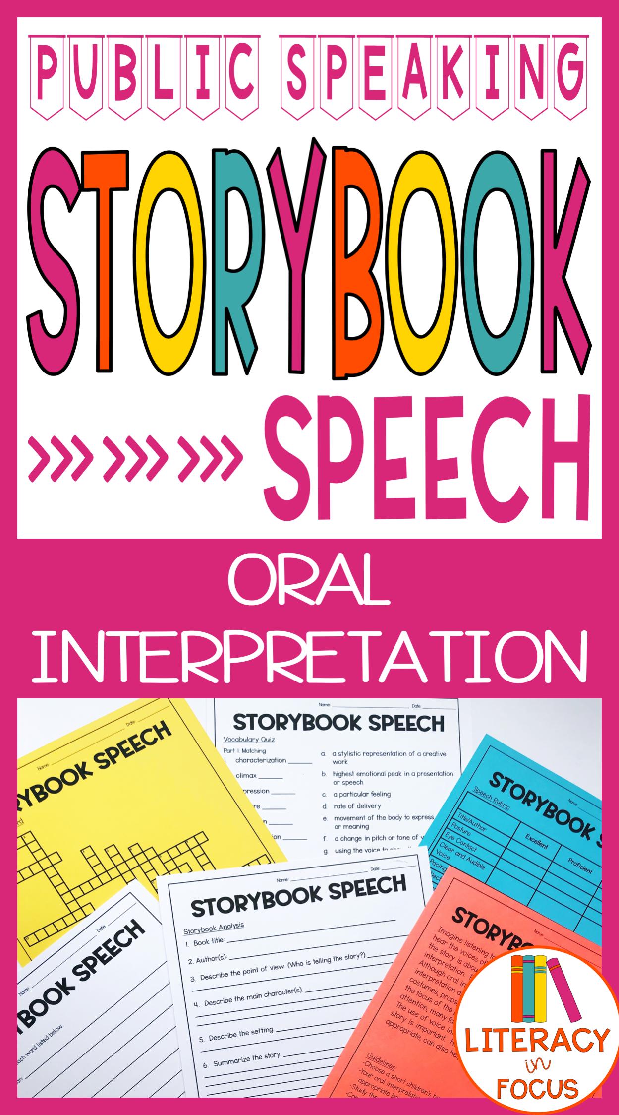 Oral Interpretation Public Speaking Lesson Plan