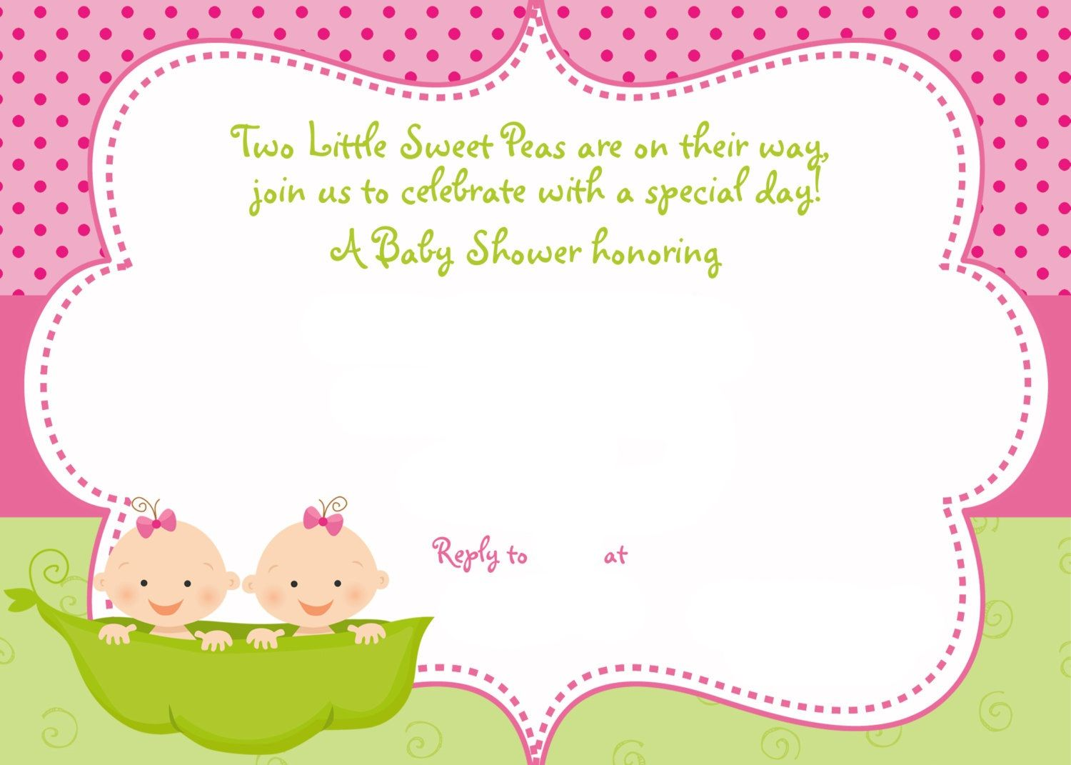 photo relating to Free Printable Twin Baby Shower Invitations named Interesting Totally free Printable Twins Little one Shower Invitation Strategies