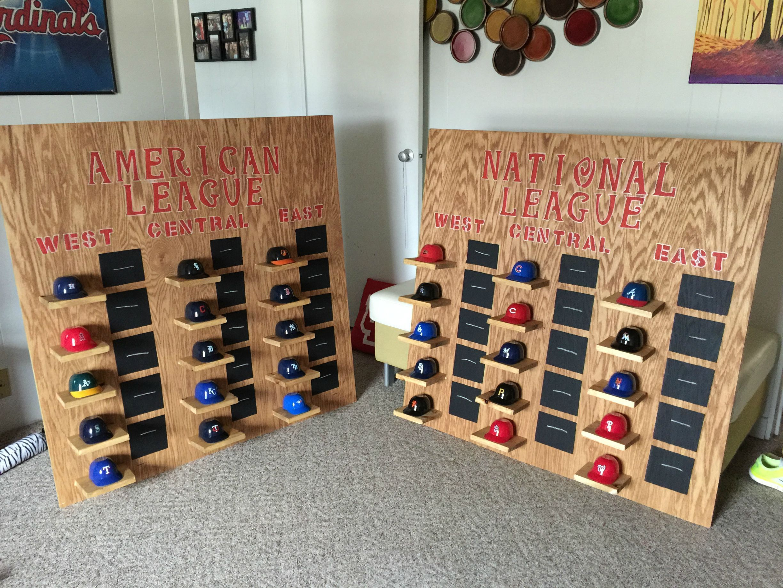 Mlb Standings Mini Helmet Shelf Baseball Man Cave Mlb Standings Basketball Floor