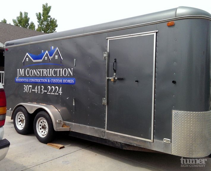 JMconstructionjobtrailervinyl Truck And Tool Trailer - Custom vinyl decals for trailers