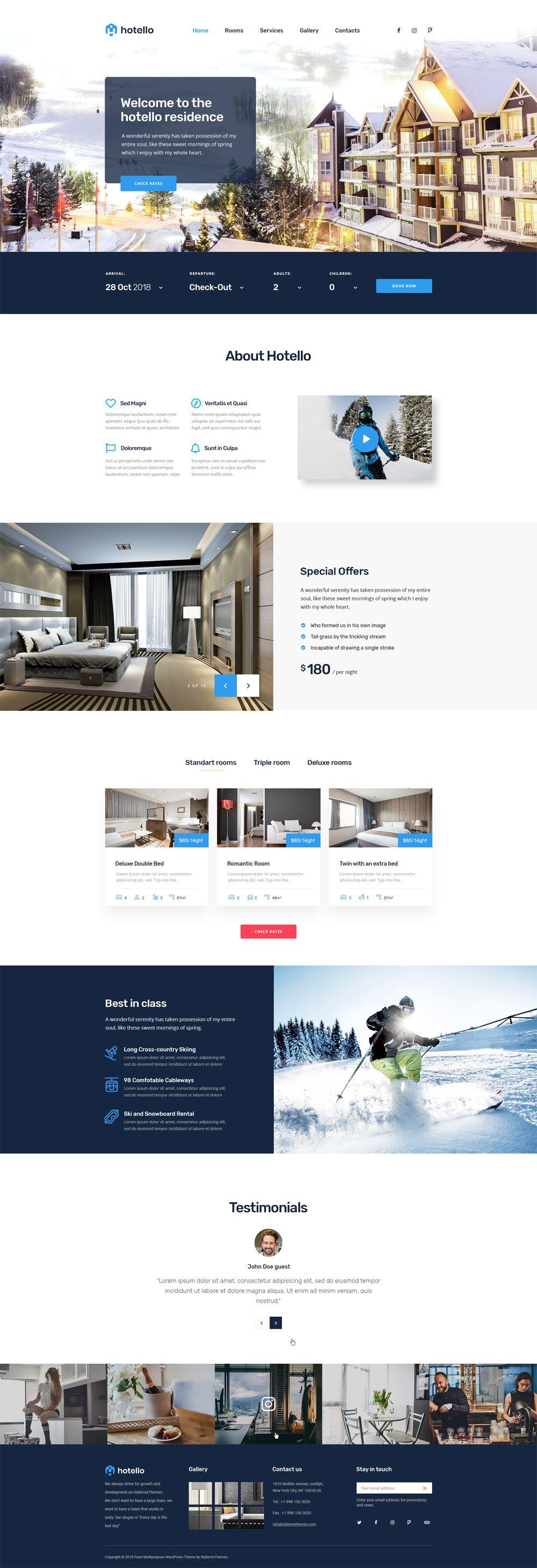 Hotel Wp Theme Hotel Paris Hotels Resort Design