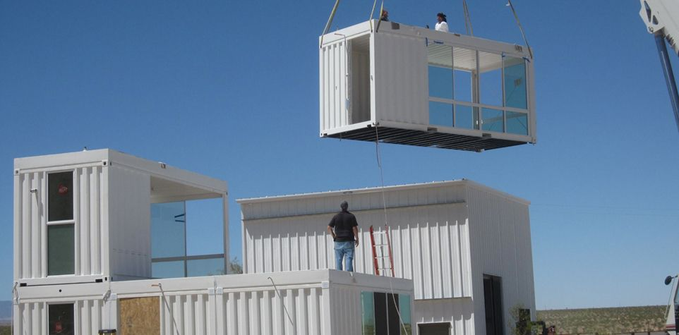 Shipping container house design project