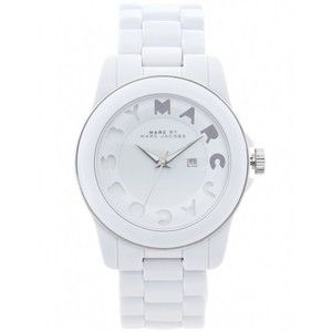 marc jacobs white watch