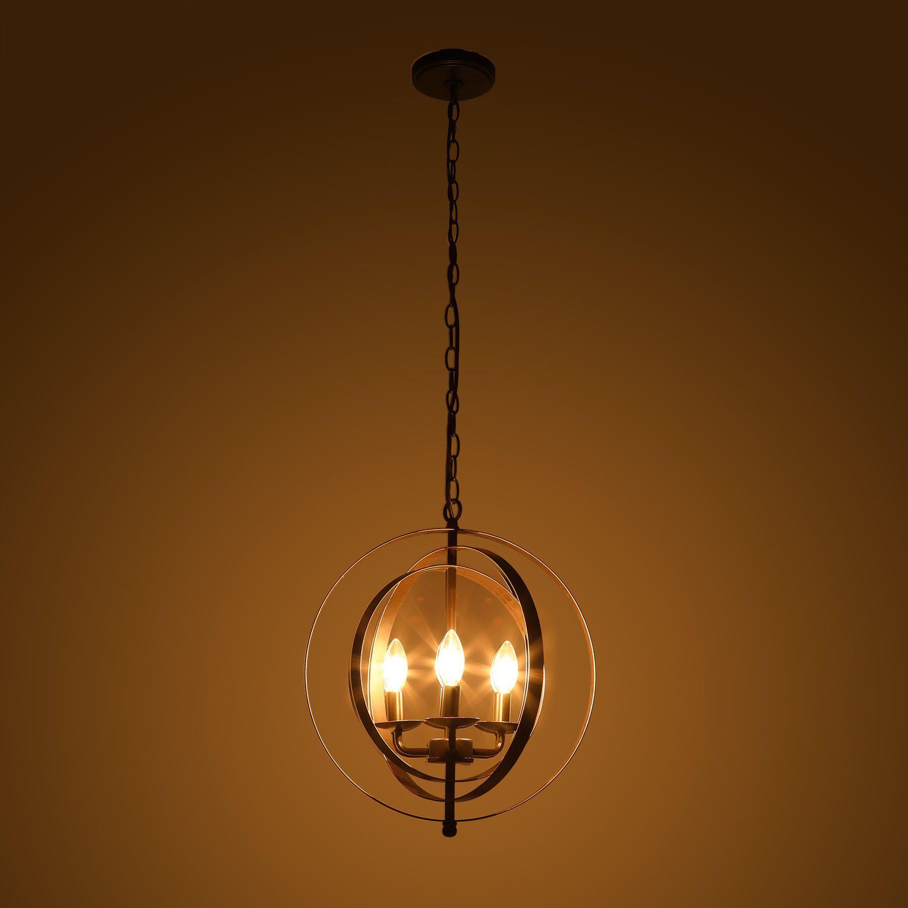 Coz antique bronze light industrial chandelier rustic sphere