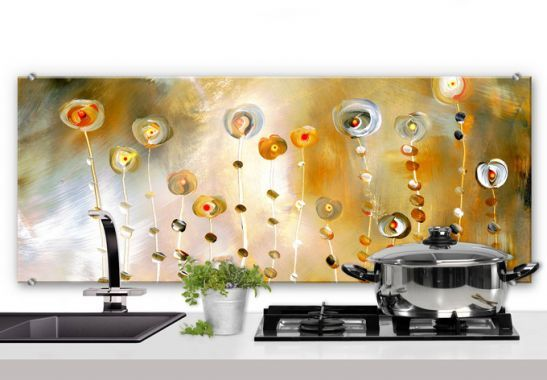 Spritzschutz Niksic - Golden Eye - Panorama | wall-art.de