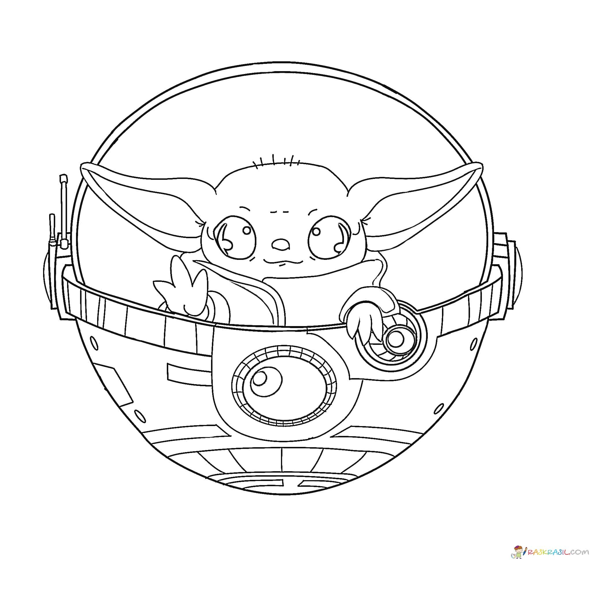 Coloring Pages Baby Yoda The Mandalorian And Baby Yoda Free In 2020 Coloring Pages Cool Coloring Pages Unique Coloring Pages