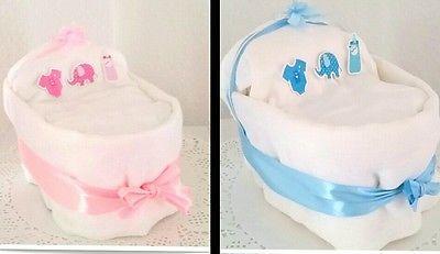 """★♥Kleines Windelbettchen /""""Baby Boy/""""♥★ Geschenk zur Geburt Taufe  Windeltorte"""