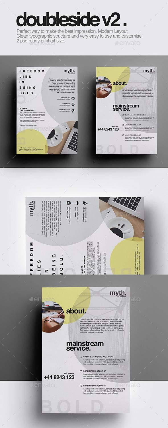 Review Double Sided Flyer v Pinterest Flyer template