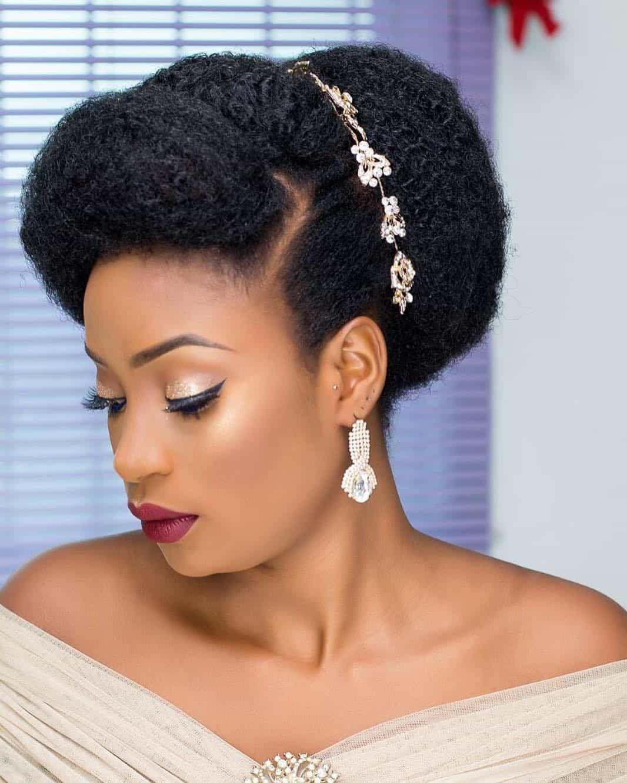 14 Natural Hair Bridal Styles You Can Replicate Thrivenaija Natural Hair Bride Natural Hair Wedding Natural Hair Styles