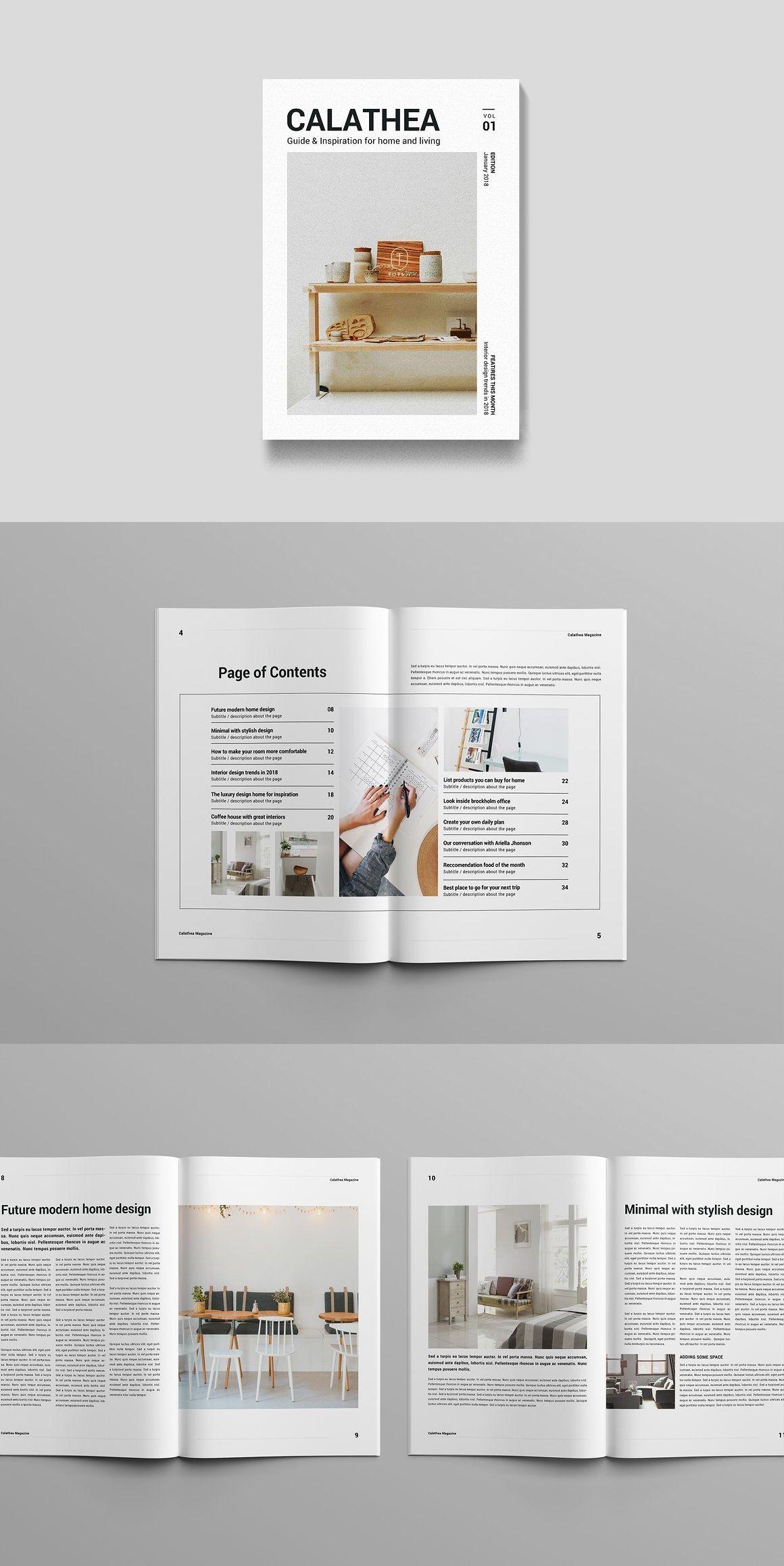 magazine brochure templates pinterest brochure template