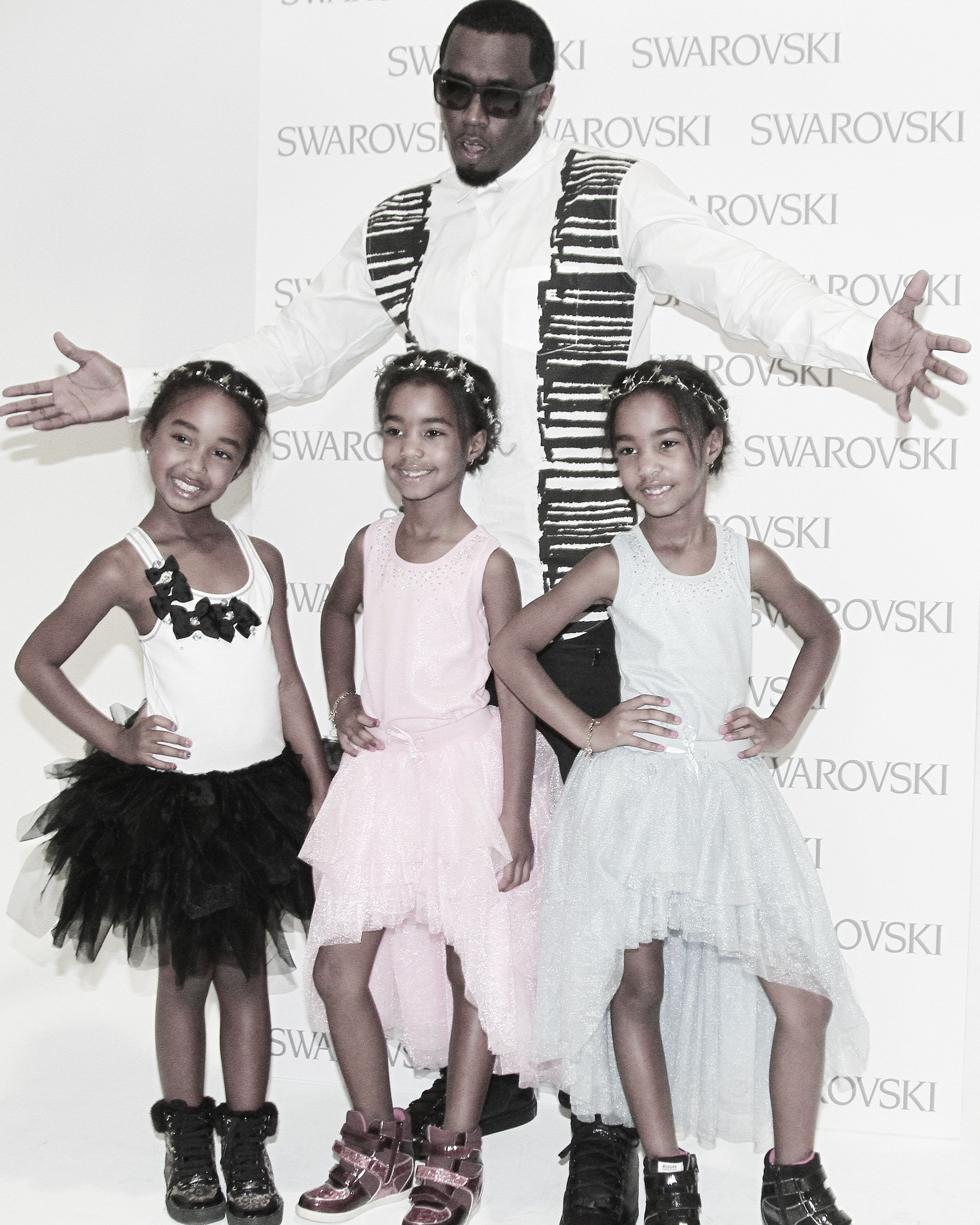 Jessie, D'Lila and Chance Combs, daughters of rapper and