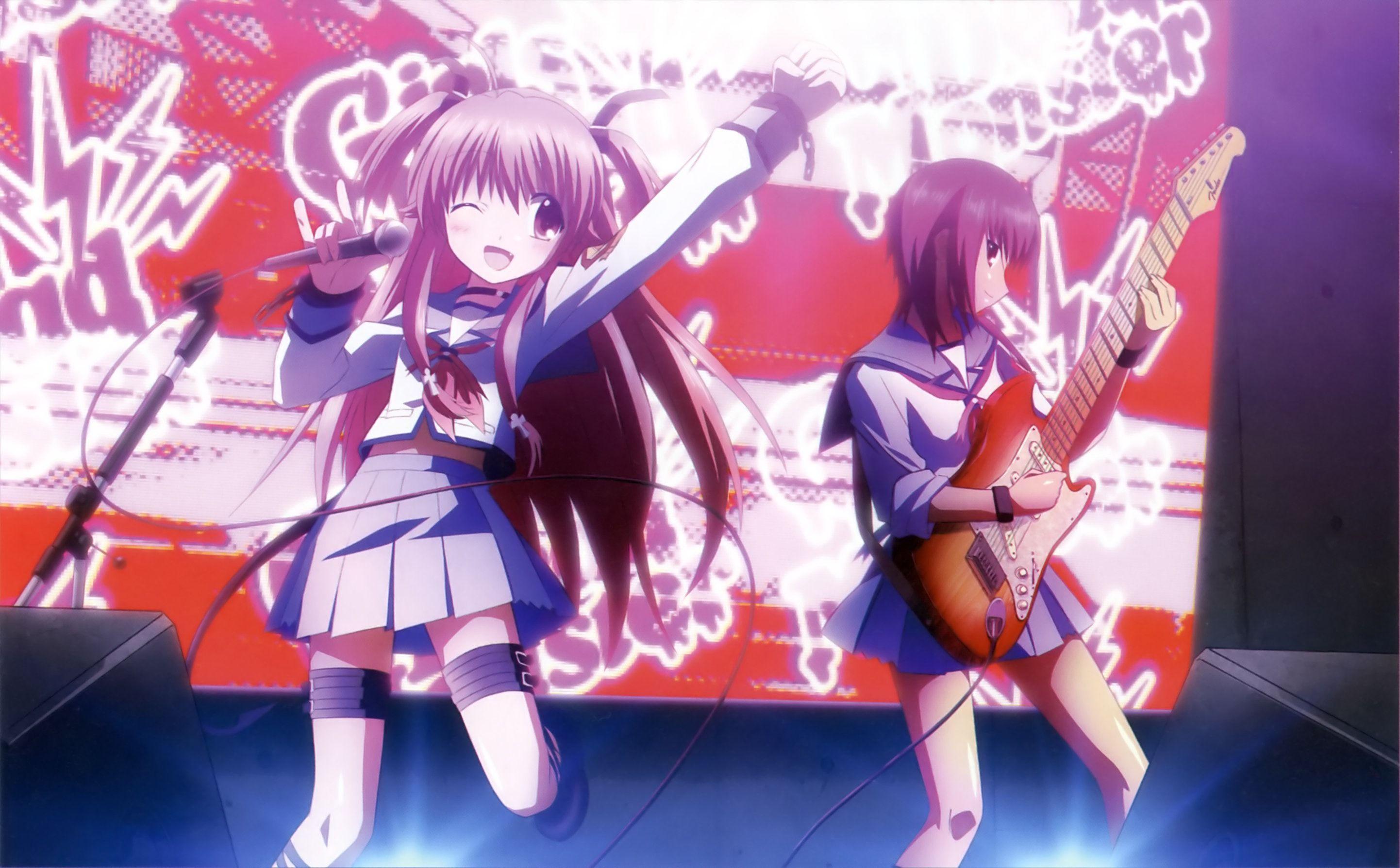 Yui and Iwasawa Angel beats, Anime angel, Anime