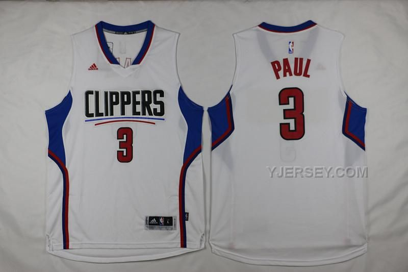 white 2015 new swingman home jersey los angeles clippers adidas nba kids los angeles clippers 3 chris paul new revolution 30