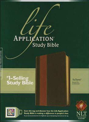 Nlt Life Application Study Bible 2nd Edition Leatherlike Brown Tan Indexed Life Application Study Bible Life Application Bible Study