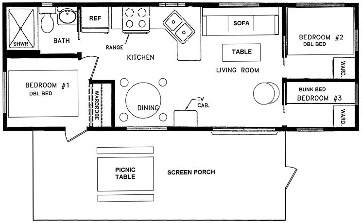 12x40 floor plans parkmodel floorplan 745x459 for 12x40 mobile home floor plans