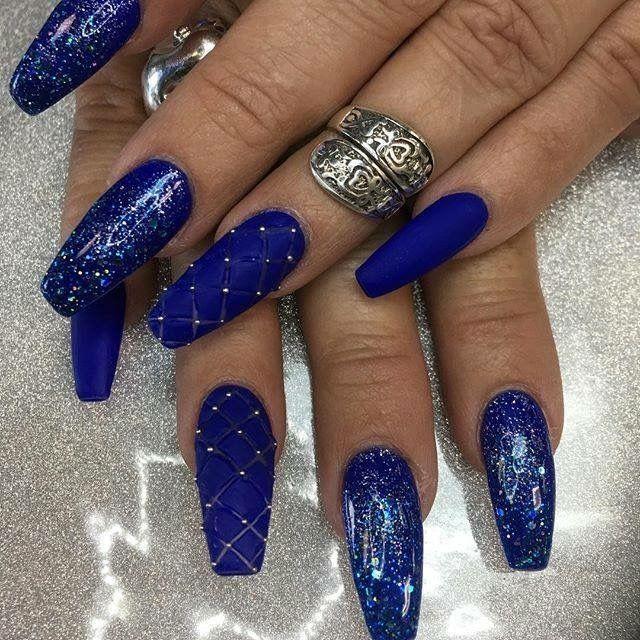 Pin by Наталья on маникюр   Pinterest   Blue nails