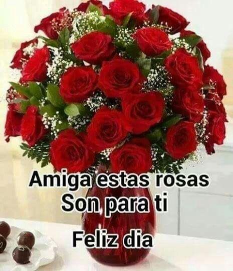 Amiga Estas Rosas Son Para Ti A Frases En Español Feliz