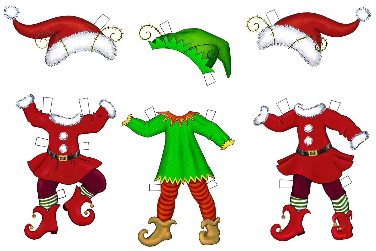 elf cut out patterns | chickpeastudio has these elves that you can ...