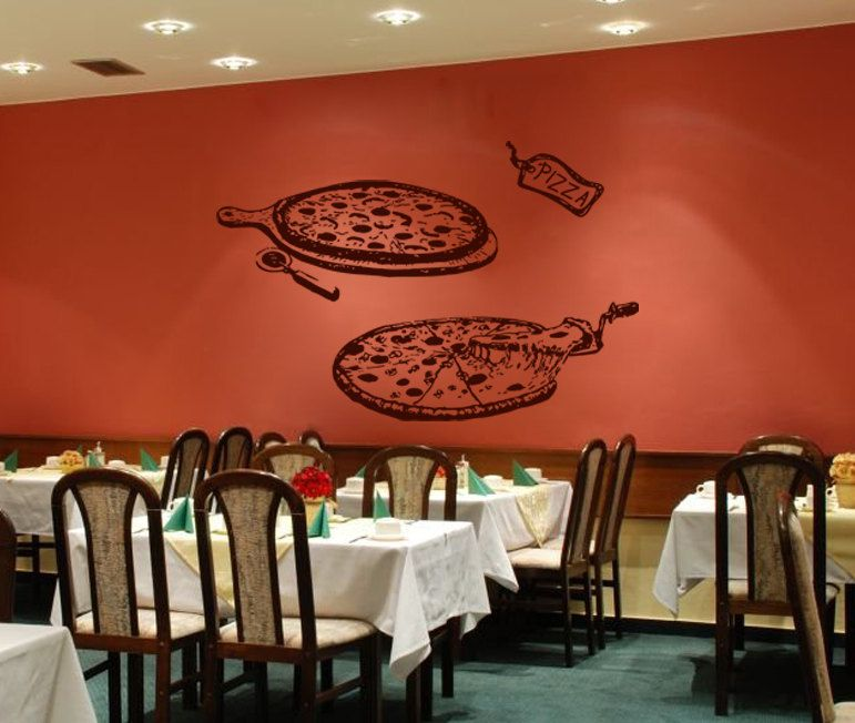 Kik wall decal sticker pizza pizzeria italian