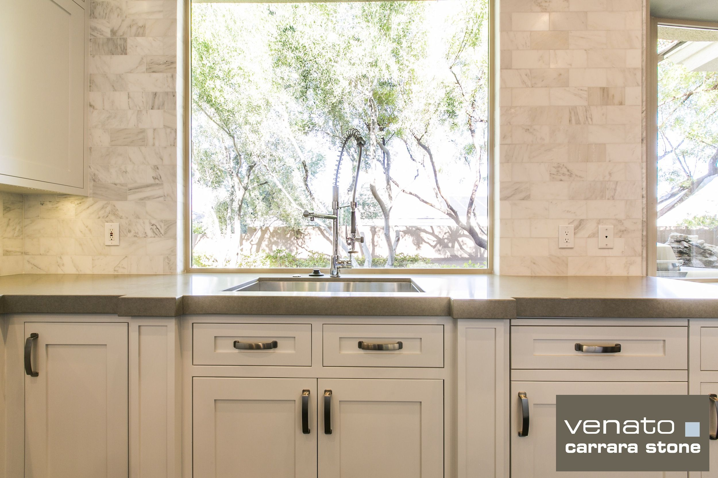 Carrara Venato 3×6u2033 Kitchen Backsplash