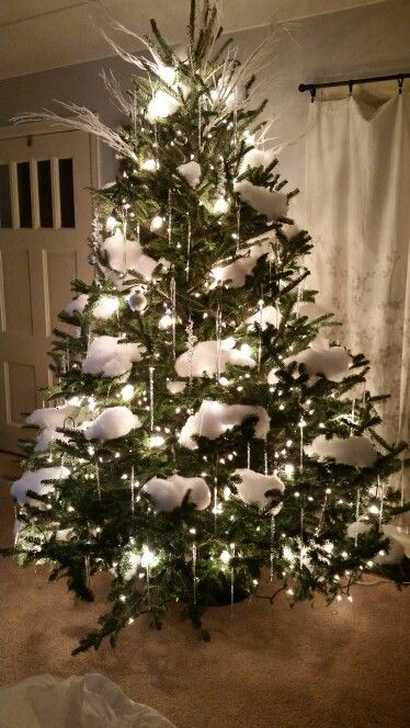 My Beautiful Christmas Tree This Year Started With Small White Lig Christmas Tree Decorations Small Christmas Trees Decorated Shabby Chic Christmas Ornaments