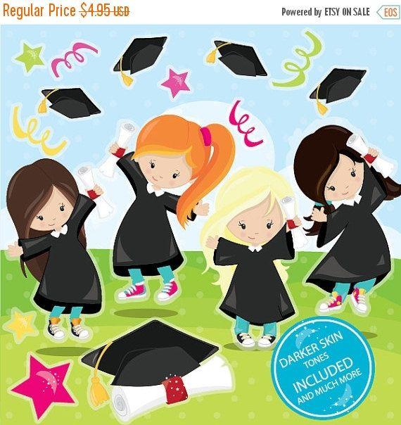 BUY20GET10 - Graduation clipart commercial use, Graduation ...