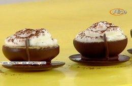 tazzine di caffè al cioccolato