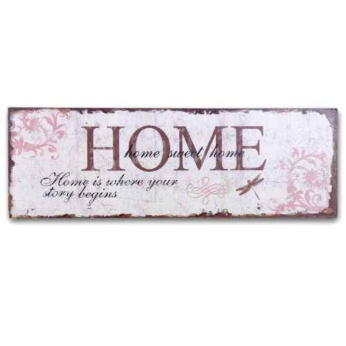 Decorative+wood+signs   Adeco SP4378 Decorative Wooden Wall Sign Plaque  Home  Decor