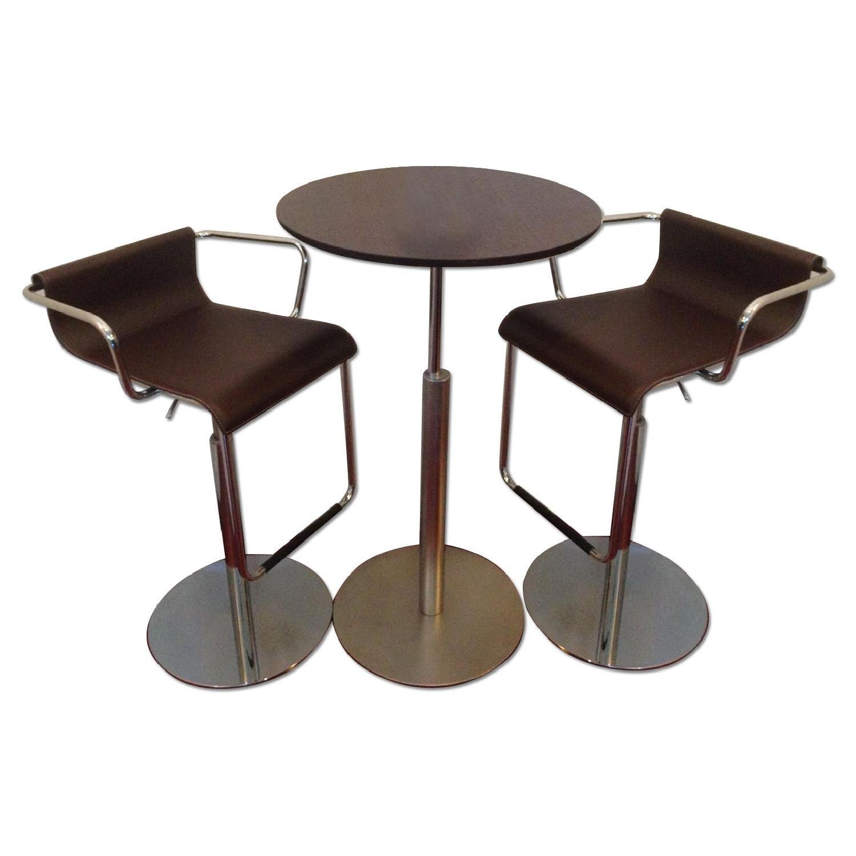 Jensen Lewis Brio Adjustable La Palma Bar Table w 2 Vertigo