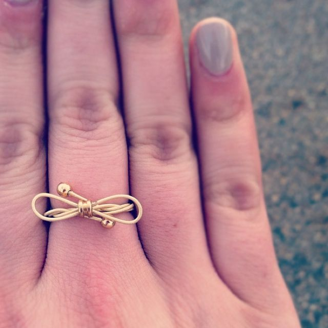 Never Thought To Use An Old Violin String As A Ring