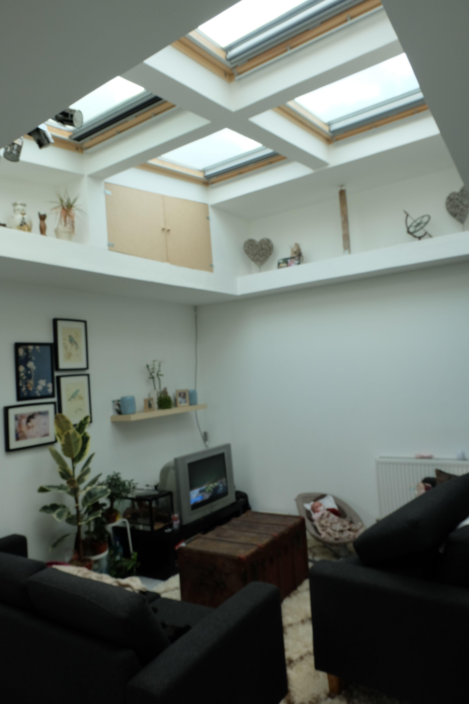 Ma maison salon puis ou trou de lumi¨re velux cadre
