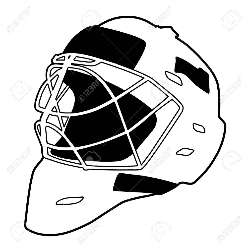 Goalie Helmet Template Google Search Templates Goalie Template Google