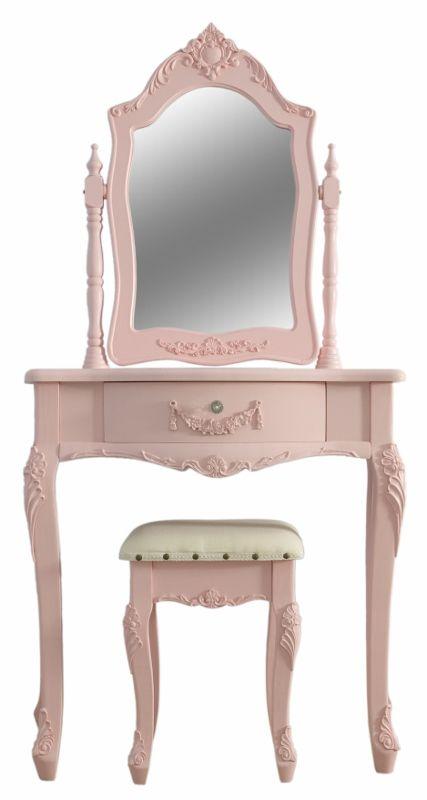 Shabby Chic Pink Girls Dressing Table U0026 Stool Set   Sophie Pink