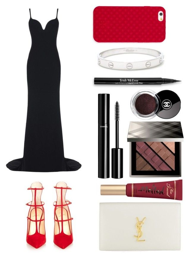 """MAMA AWARDS HONG KONG"" by cece1101 ❤ liked on Polyvore featuring STELLA McCARTNEY, Christian Louboutin, Yves Saint Laurent, Too Faced Cosmetics, Chanel, Burberry, Cartier, Trish McEvoy and Tory Burch"