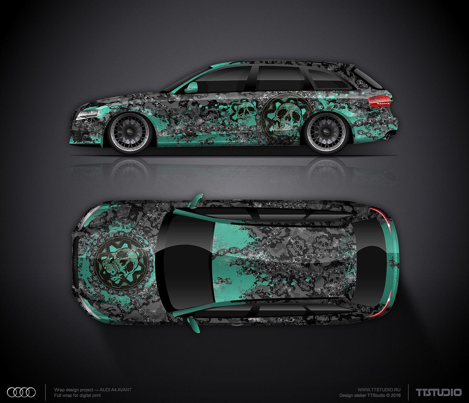 Design Concept 16 Skulls Camo For Audi Rs6 Avant Rc Cars Audi