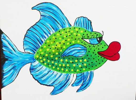 A fabulously whimsical fish, based on a real reef fish called the Bluefin Trevaly. Description from etsy.com. I searched for this on bing.com/images