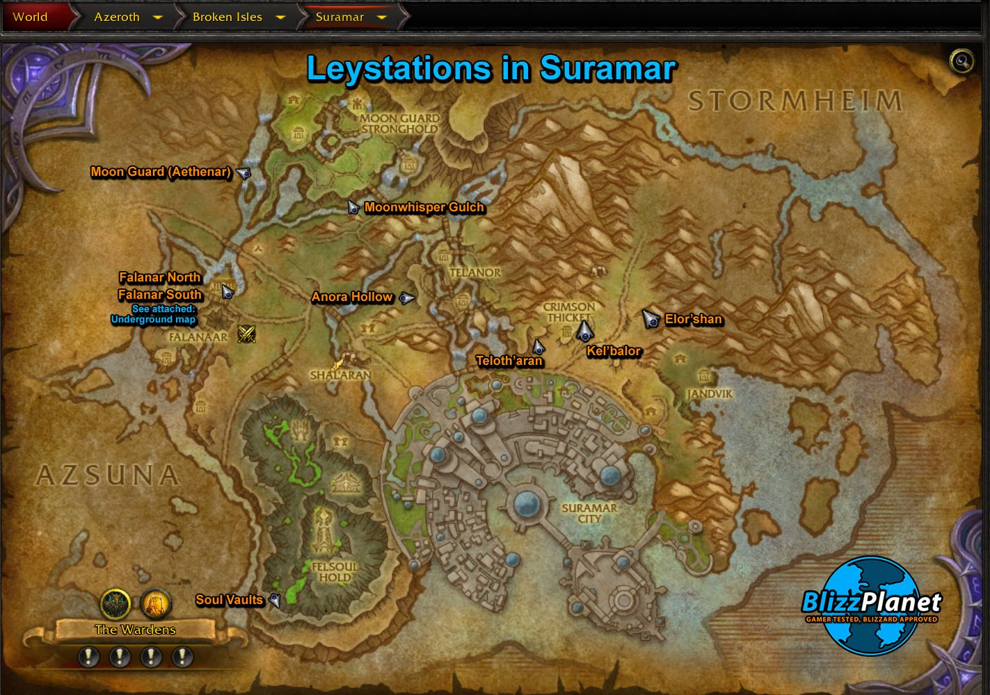 I Put Together A Suramar Leyline Map As Your Guide The