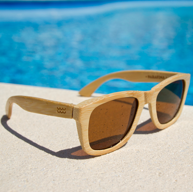 8c9bcd58d269 Parafina wood sunglasses (bamboo) Model: Vega natural / brown polarized  http:/