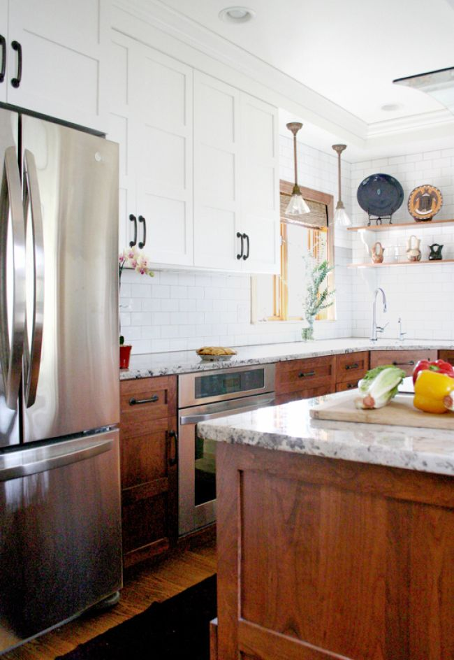 top kitchen cabinets types of counters stunning designs with two toned for the home 10 mountainmodernlife com wood on bottom white