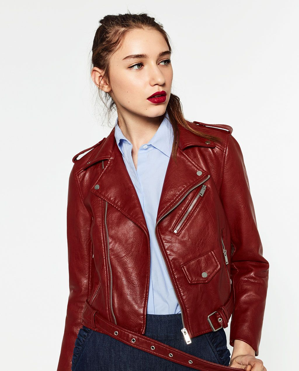 1744218570 LEATHER EFFECT JACKET-View all-OUTERWEAR-WOMAN | ZARA United States ...