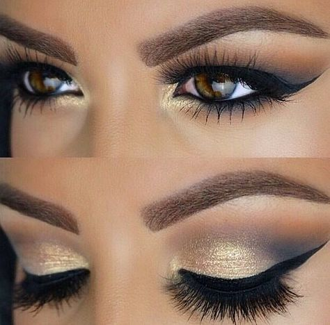 Beautiful Gold And Grey Navy Smokey Eye Mua Navy Eye Makeup Blue Dress Makeup Ball Makeup