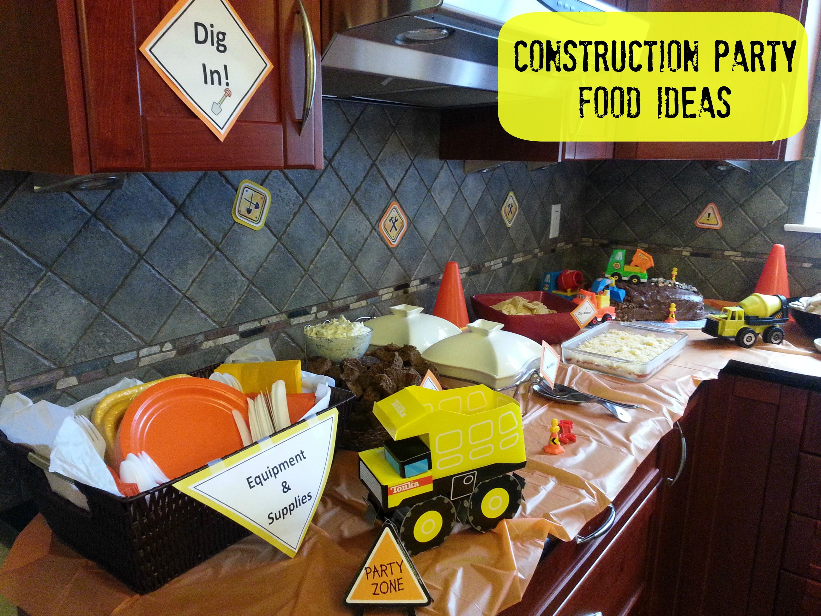 Themed Dinner Party Ideas For Adults Part - 19: Kids Birthday Party Ideas: Food For A Construction Birthday Party