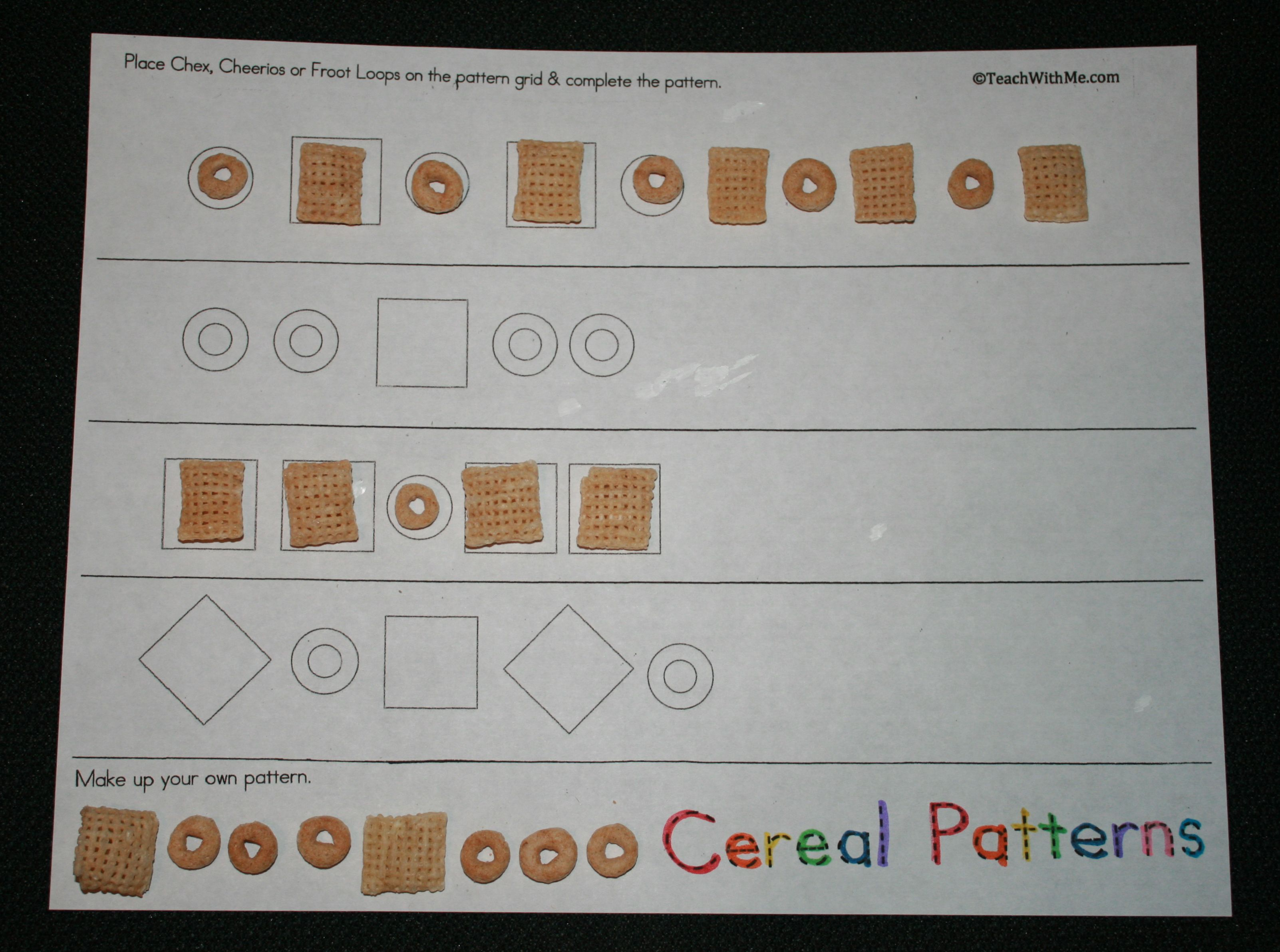 Fruit Loop Graphing Worksheet For Preschool