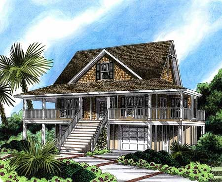 Plan 15006nc wonderful wraparound low country houses for Low country house plans with porches