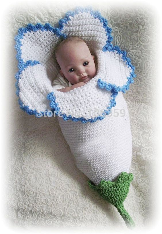 Crocheted Flower Baby Cocoons Are Adorable | Baby geschenke ...