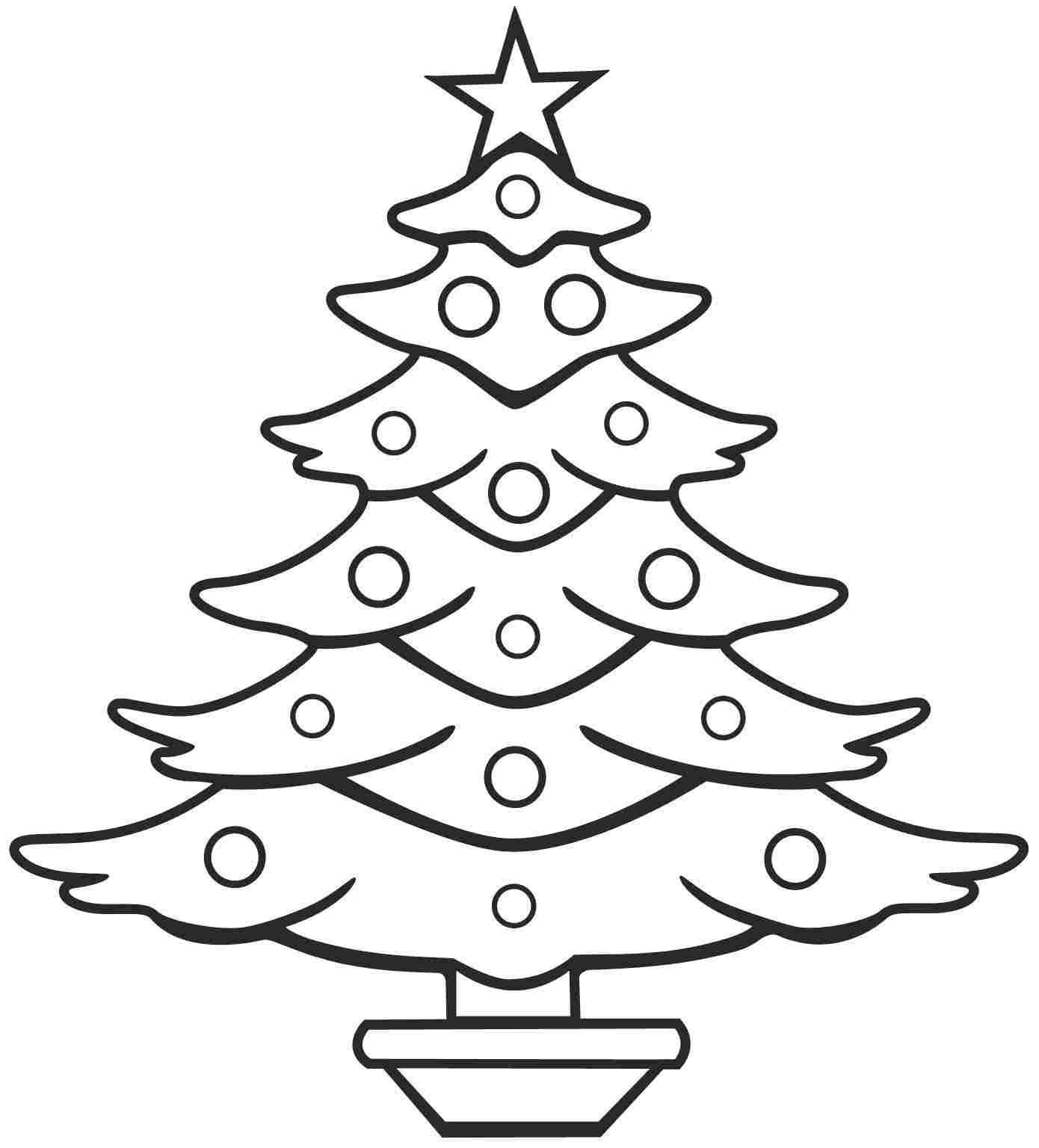 Free Colouring Pages Christmas Tree For Little Kids #5412. | Árvores ...